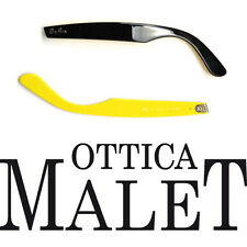 ASTE RICAMBIO RAY BAN 2151 50 WAYFARER BLACK YELLOW SIDE ARMS NERO GIALLO 145mm