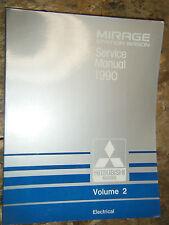 1990 MITSUBISHI MIRAGE STATION WAGON ORIGINAL FACTORY ELECTRICAL SERVICE MANUAL