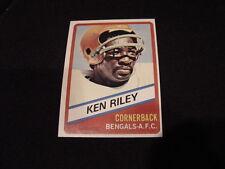 ODDBALL & SCARCE Ken Riley Card, Cincinnati Bengals, VINTAGE & MINT!!