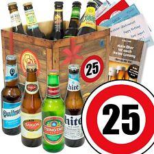 """Geschenk Ideen zum 25. Geburtstag Bier Box """"BIERE AUS ALLER WELT"""" Geschenkset"""