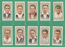 JOHN  PLAYERS  &  SONS  -  SCARCE  SET  OF  50  CRICKETERS  1934  CARDS  -  1934