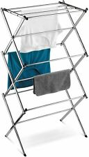 Home Indoor Laundry Clothes Storage Tools Slim Commercial Drying Rack Chrome