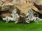 Pegasus Caballo PENDIENTES DE PLATA 925 2 piezas pendientes animales