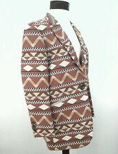 Maison Scotch Navajo Tribal Woven Cotton Jacket Blazer Coat 1/2 Small