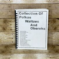 Collection of Polkas Waltzes and Obereks Sheet Music Book Spiral Bound