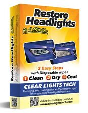 HEADLIGHTS RESTORE WIPES with UV Protection Kit Works In 2 Minutes for all cars!
