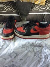 Nike Boys Air Force 1 Sneakers Size 1.5Y Black Red