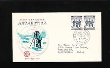 Australia Antarctica Fdc First Day of Issue 1961 Brisbane Magnetic Pole 7q