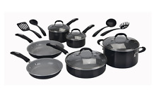 14 Piece Cuisinart Ceramic Cookware Chef  Pot Skillets Sauce Pan Easy Clean New