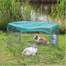 Large Rabbit Small Pet Cage 6-Panel Playpen Free Safety Net Indoor Outdoor Run