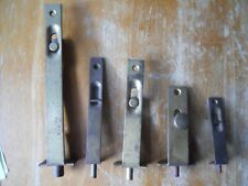 5 Vintage Flush Mount Slide Bolt Locks  old hardware