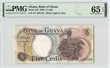 Ghana 1969 P-11b PMG Gem UNC 65 EPQ 5 Cedis