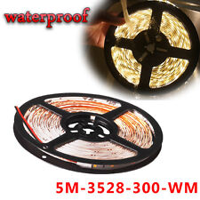 5M/16.4ft 3528 SMD Flexible 300LED Light Strip Tape Boat Car IP67 Waterproof 12V