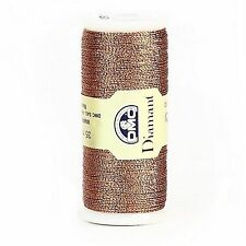 DMC DIAMANT THREAD NO. D301 35 METER SPOOL COPPER -  FREE UK POSTAGE AND PACKING