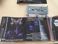 MAYHEM - De Mysteriis Dom Sathanas MC 1996 RARE 1'ST PRESS