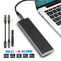 M2 SSD Hard Case NVME PCIe Enclosure M.2 to USB Type C 3.1 GEN2  M Keys Adapter