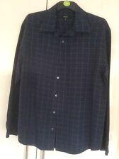 Siguiente Azul Camisa De Manga Larga Talla Xl