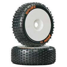 Duratrax DTXC3640 1/8 Spurz Buggy Tires C2 Mounted on White Wheels (2) F / R