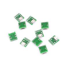 10pcs MICRO USB To DIP Adapter 5pin Female Connector Pcb Converter DIY Kit BH