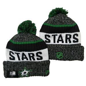 NEW ERA NHL Dallas Stars On field Sideline Beanie Winter Pom Knit Cap Hat