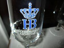 Vintage HOFBRAUHAUS MUNCHEN Logo 0.25 Liter Stemmed Beer Glass Germany