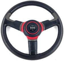 Genuine Momo Off Road 370mm leather steering wheel.  New Old Stock.  Rare!  18A