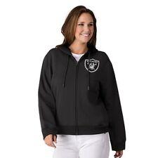 NFL Los Angeles Raiders Officially Licensed Women's Full Zip Hoodie G-III Black