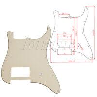 1 Pc Beige Electric Guitar Pickguard One Humbucker For Fender Strat Stratocaster