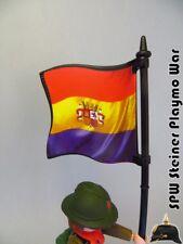 BANDERA REPUBLICA ESPAÑOLA SPANISH REPUBLICA FLAG PLAYMOBIL SOLDADO NO INCLUIDO