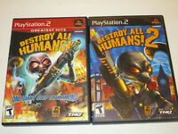 Destroy All Humans 1 & 2   for Ps2  Used in Very Good Condition  Free Shipping