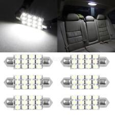 6x Led 12Smd Courtesy Interior Light Bulb Festoon Dome Lamp 42Mm 211 6000K White