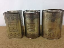 Vtg Set of 3 Bella Casa Ganz English Breakfast Coffee Sugar Tea Steel Canisters