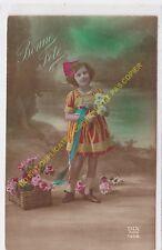 CPA Old Postcard vintage Enfant DIX 1556 BONNE FETE