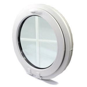 Rundfenster Sprossen 18 mm Fest oder KIPP Kunststofffenster VEKA PROFIL
