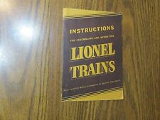 1939 LIONEL TRAINS INSTRUCTION MANUAL !!