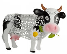 Smart Solar Silhouette Daisy Cow - LED Garden Lighting Colour Change White No Wire