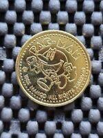Vintage Namco Memorial Pacman Arcade Token Coin Medal Rare Promo Nintendo SNES X