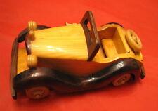 Grande Automobilina automodello in legno massello old car toy wood vintage lusso