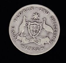 1922 Florin Australia Sterling Silver  C-132