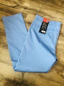 Callaway Men's Blue Size 38x32 Opti-Dri Stretch Golf Pants Flat Front (M297)