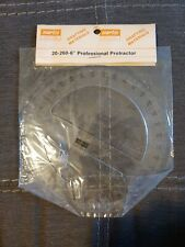 "Vintage MARTIN 20-260-6"" PROFESSIONAL DRAFTING  DRAWING Protractor NEW"