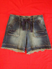 Denim Casual Classic Rise Shorts for Women