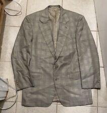 Dunhill Glen Check Sport Coat Blazer 48EU 38R US Made In Italy Recent
