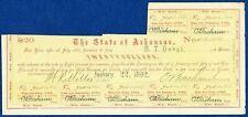 $20 State of Arkansas Civil War Bond – Criswell 61F
