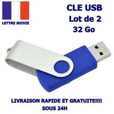 Lot de 2 Cle usb 32 Go Gb Pendrive Flash Drive sous Blister Memoire Lecteurs usb
