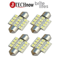 "Jtech 4x 31mm(1.25"") 12 SMD Super Bright White LED Bulb DE3175 DE3021 DE3022"
