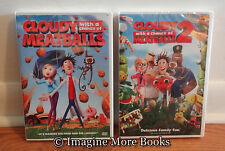 2 NEW/SEALED DVDs ~ Cloudy With a Chance of Meatballs 1 & 2