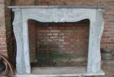 Elegant French Design Marble Fireplace Mantel, Custom Available