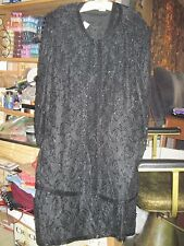 VTG Woman's CARINA 4X Black Lace & Beaded Sleeveless Dress and Matching..JMFCL11