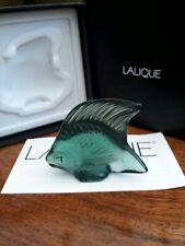 Lalique Fish , Rare/Unusual Colour , Courlis Green Special , BNIB ! , Gift Idea